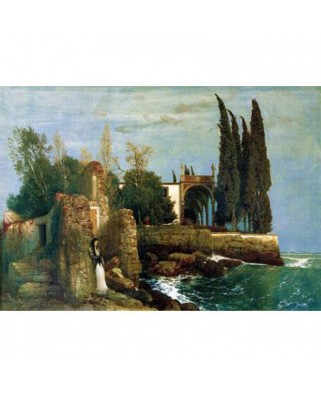 Puzzle Ravensburger - Arnold Bocklin: Ruins by the Sea, 300 piese (14022)