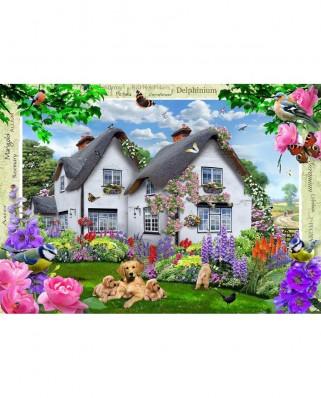 Puzzle Ravensburger - Delphinium Cottage, 1.000 piese (19496)