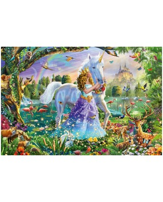 Puzzle Schmidt - Princess with Unicorn and Castle, 150 piese (56307)