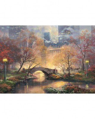 Puzzle Schmidt - Thomas Kinkade: Central Park in Autumn, 1.000 piese (59496)