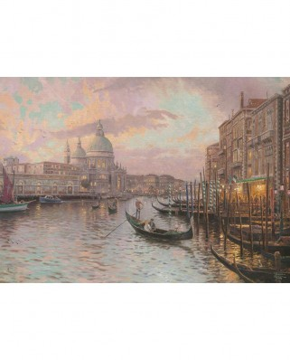 Puzzle fosforescent Schmidt - Thomas Kinkade: In the Streets of Venice, 1.000 piese (59499)