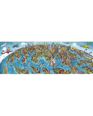 Puzzle panoramic Schmidt - Cityscape Sydney, 1.000 piese (59595)