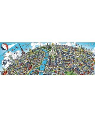 Puzzle panoramic Schmidt - Cityscape Paris, 1.000 piese (59597)
