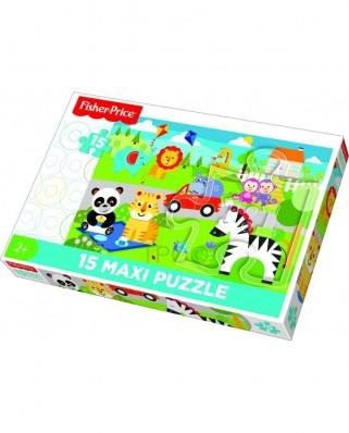 Puzzle Trefl - Mattel Fisher-Price, 15 piese XXL (14286)