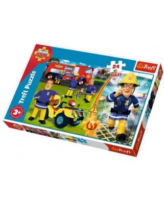 Puzzle Trefl - Fireman Sam, 24 piese XXL (14290)