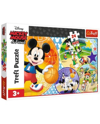 Puzzle Trefl - Mickey Mouse and Friends, 24 piese XXL (14291)