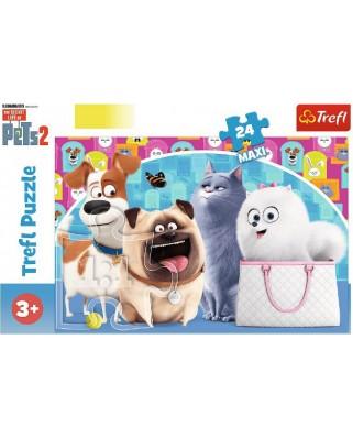 Puzzle Trefl - The Secret Life of Pets 2, 24 piese XXL (14296)