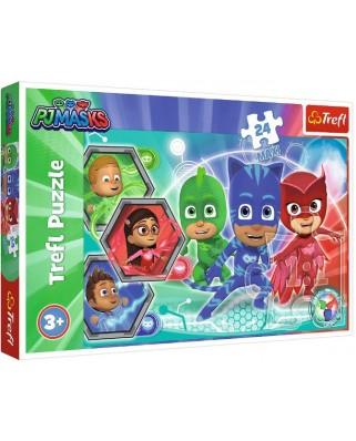 Puzzle Trefl - PJ Masks, 24 piese XXL (14299)