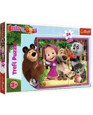 Puzzle Trefl - Masha & the Bear, 24 piese XXL (14301)
