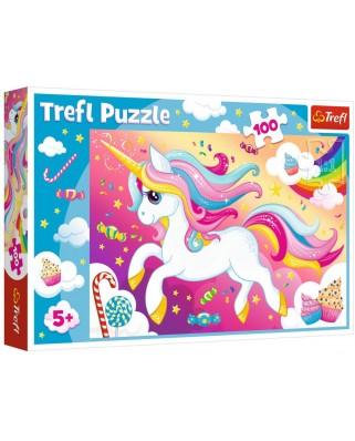 Puzzle Trefl - Unicorn, 100 piese (16386)