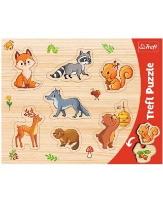 Puzzle Trefl - Forest Animals, 7 piese (31307)