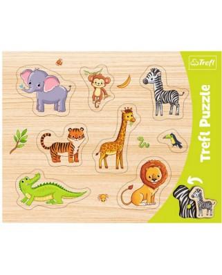 Puzzle Trefl - Wild Animals, 8 piese (31308)
