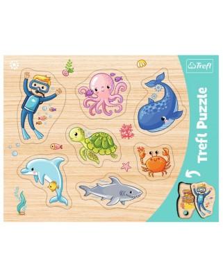 Puzzle Trefl - Sea Animals, 7 piese (31309)