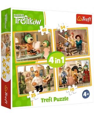 Puzzle Trefl - Treflikow, 35/48/54/70 piese (34318)