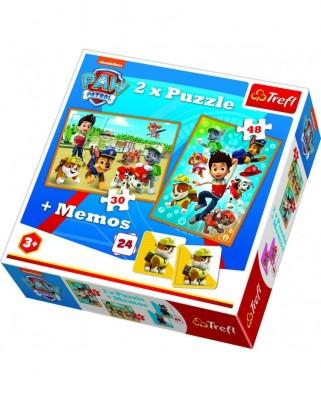 Puzzle Trefl - Memo - Paw Patrol, 30/48 piese (90790)