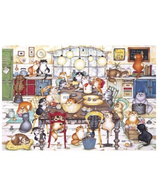 Puzzle Gibsons - Cat's Cookie Club, 500 piese (65083)