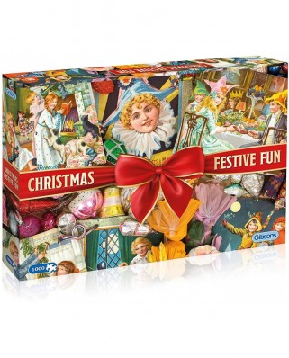 Puzzle Gibsons - Christmas Festive Fun, 1.000 piese (65131)