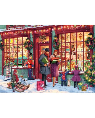 Puzzle Gibsons - Christmas Toy Shop, 1.000 piese (65129)