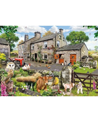 Puzzle Gibsons - Farmyard Friends, 1.000 piese (47167)