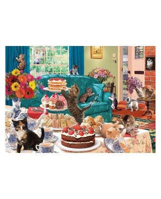 Puzzle Gibsons - Feline Frenzy, 1.000 piese (65103)