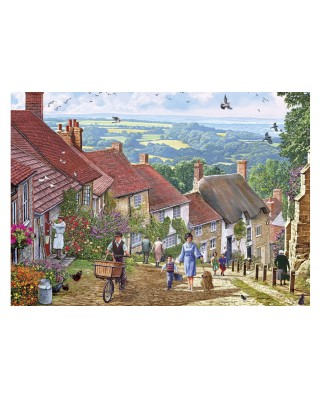 Puzzle Gibsons - Gold Hill, 1.000 piese (65108)