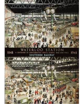 Puzzle Gibsons - Helen McKie: Waterloo Station, 1.000 piese (41228)