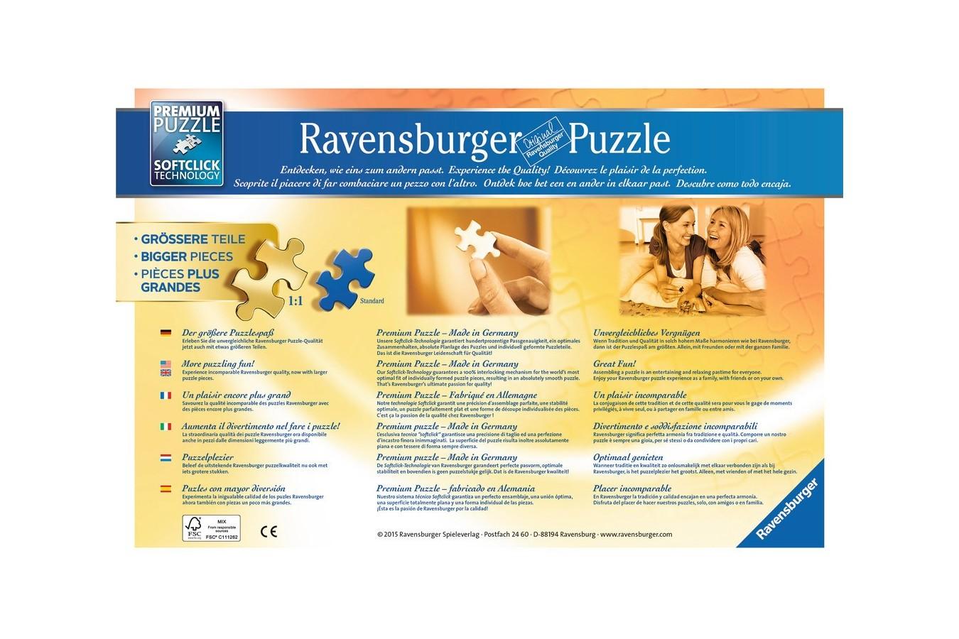 Puzzle Ravensburger - Catel Pe Sezlong, 500 piese (13649)