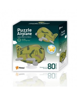 Puzzle 3D din plastic Pintoo - Airplane Puzzle - Camouflage, 80 piese (E5187)