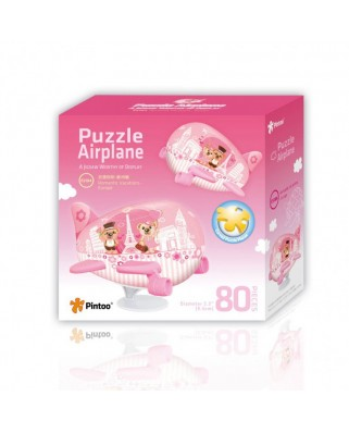 Puzzle 3D din plastic Pintoo - Airplane Puzzle - Romantic Holidays in Europe, 80 piese (E5184)
