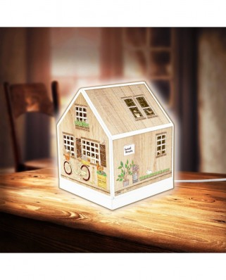 Puzzle 3D din plastic Pintoo - House Lantern - Little Wooden Cabin, 208 piese (R1005)