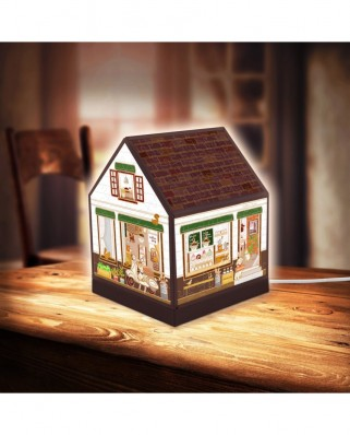 Puzzle 3D din plastic Pintoo - House Lantern - Lovely Cafe Shop, 208 piese (R1004)