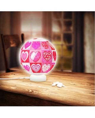 Puzzle 3D glob din plastic Pintoo - Love, 60 piese (J1011)