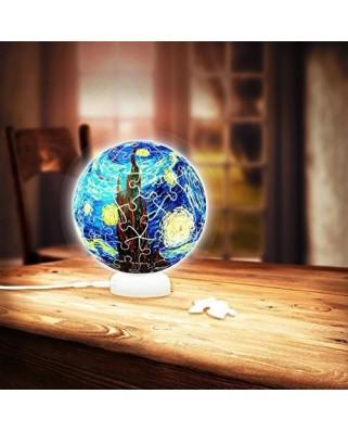 Puzzle 3D glob din plastic Pintoo - Vincent Van Gogh: Sphere Light - Van Gog, 60 piese (J1013)
