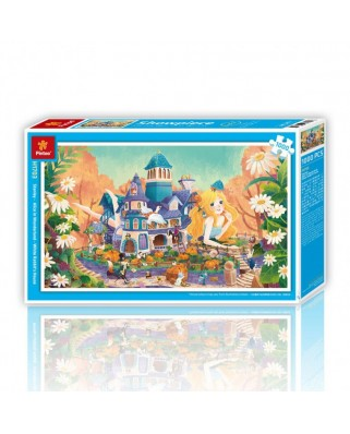 Puzzle din plastic Pintoo - Alice in Wonderland, 1.000 piese (H1703)