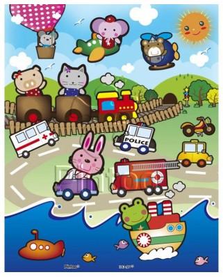 Puzzle din plastic Pintoo - Animal Kingdom, 20 piese (T1008)