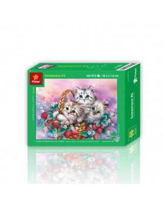Puzzle din plastic Pintoo - Basket of Strawberries for Cats, 150 piese (P1119)