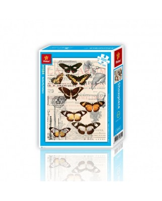 Puzzle din plastic Pintoo - Butterflies, 300 piese (H1584)