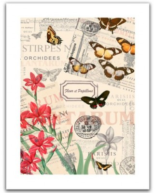 Puzzle din plastic Pintoo - Buttlerfly & Flower, 300 piese (H1585)