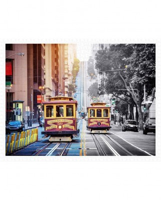 Puzzle din plastic Pintoo - Cable Cars on California Street, San Francisco, 1200 piese (H2044)
