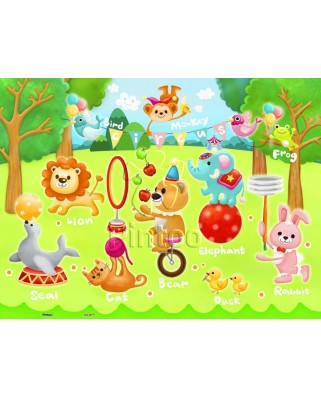 Puzzle din plastic Pintoo - Circus in the Forest, 48 piese (T1017)