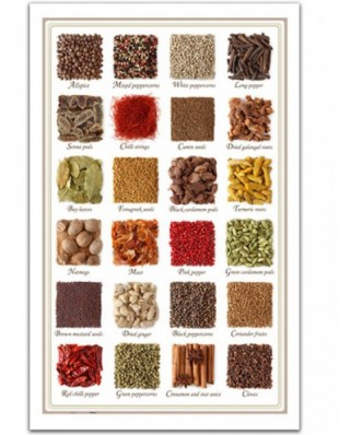 Puzzle din plastic Pintoo - Collection of spices, 1000 piese (H1470)