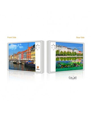Puzzle din plastic Pintoo - Copenhagen and Vienna, 48 piese fata/verso (U1006)