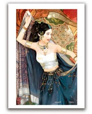Puzzle din plastic Pintoo - Derjen: Woman dancing, 40 piese (M1089)
