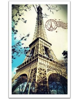 Puzzle din plastic Pintoo - France, Paris: The Eiffel Tower, 1000 piese (H1485)