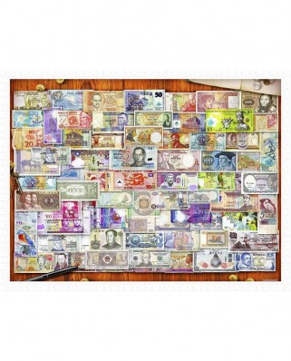Puzzle din plastic Pintoo - Garry Walton: Currency of the World, 1200 piese (H2086)