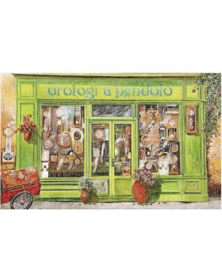 Puzzle din plastic Pintoo - Guido Borelli: Clock Shop, 1.000 piese (H1999)