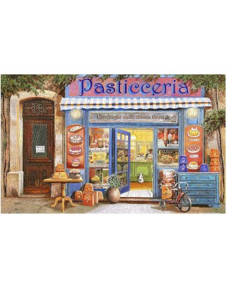 Puzzle din plastic Pintoo - Guido Borelli: Pastry Shop, 1.000 piese (H1998)