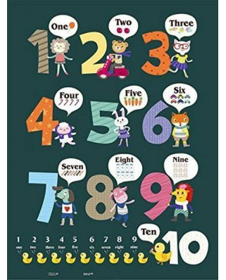 Puzzle din plastic Pintoo - Learning To Count, 48 piese (T1025)