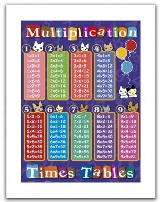 Puzzle din plastic Pintoo - Multiplication table, 300 piese (H1375)
