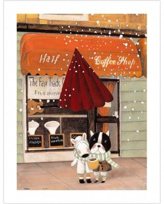 Puzzle din plastic Pintoo - Nan Jun: Half - Coffee Shop, 300 piese (H1708)